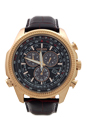 BL5403-03X Chronograph Eco-Drive Dark Brown Leather Strap Watch by Citizen for Men - 1 Pc Watch