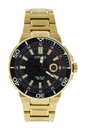 AW1422-50E Eco-Drive Endeavor Black Dial Gold-Tone Stainless Steel Watch by Citizen for Men - 1 Pc Watch