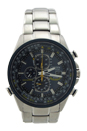 AT8020-54L Eco-Drive Blue Angels World Chronograph A-T Stainless Steel Watch by Citizen for Men - 1 Pc Watch
