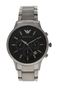 AR2434 Chronograph Stainless Steel Bracelet Watch by Emporio Armani for Men - 1 Pc Watch