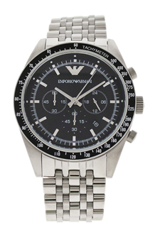 AR5988 Chronograph Stainless Steel Bracelet Watch by Emporio Armani for Men - 1 Pc Watch