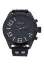 AG1274-02 Black Leather Strap Watch by Antoneli for Men - 1 Pc Watch