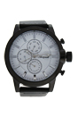 AG1901-17 Black/Black Leather Strap Watch by Antoneli for Men - 1 Pc Watch