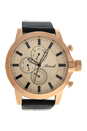 AG1901-19 Rose Gold/Black Leather Strap Watch by Antoneli for Men - 1 Pc Watch