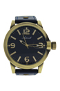 AG1901-08 Gold/Blue Leather Strap Watch by Antoneli for Men - 1 Pc Watch