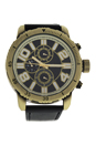 AG1905-02 Gold/Black Leather Strap Watch by Antoneli for Men - 1 Pc Watch