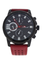 AG0064-01 Black/Red Leather Strap Watch by Antoneli for Men - 1 Pc Watch