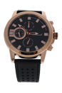 AG0064-03 Rose Gold/Black Leather Strap Watch by Antoneli for Men - 1 Pc Watch