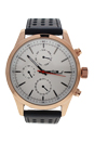AG0308-04 Rose Gold/Black Leather Strap Watch by Antoneli for Men - 1 Pc Watch