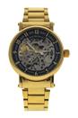 REDS28 Gold Stainless Steel Bracelet Watch by Jean Bellecour for Men - 1 Pc Watch
