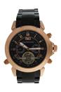 REDS7 Rose Gold/Black Stainless Steel Bracelet Watch by Jean Bellecour for Men - 1 Pc Watch