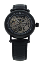 REDH4 Black Leather Strap Watch by Jean Bellecour for Men - 1 Pc Watch