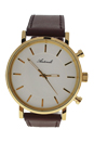 AG6182-03 Gold/Brown Leather Strap Watch by Antoneli for Unisex - 1 Pc Watch