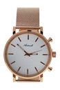 AG6182-10 Rose Gold Stainless Steel Mesh Bracelet Watch by Antoneli for Unisex - 1 Pc Watch