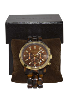 MK5216 Chronograph Tortoise Watch by Michael Kors for Women - 1 Pc Watch