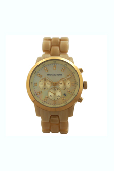 MK5217 Acrylic Horn Chronograph Watch by Michael Kors for Women - 1 Pc Watch