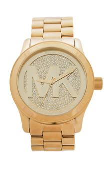 MK5706 Runway Logo Rose Gold-Tone Watch by Michael Kors for Women - 1 Pc Watch