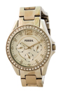 ES3202P Riley Multifunction Stainless Steel Watch by Fossil for Women - 1 Pc Watch