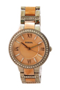 ES3405P Virginia Two-Tone Stainless Steel Watch by Fossil for Women - 1 Pc Watch