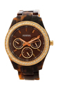 ES2795P Stella Multifunction Tortoise Resin Watch by Fossil for Women - 1 Pc Watch