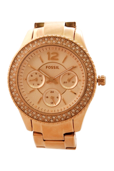 ES3590P Stella Multifunction Rose-Tone Stainless Steel Watch by Fossil for Women - 1 Pc Watch
