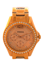 ES2811P Riley Multifunction Rose-Tone Stainless Steel Watch by Fossil for Women - 1 Pc Watch