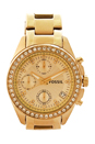 ES2683P Decker Chronograph Gold-Tone Stainless Steel Watch by Fossil for Women - 1 Pc Watch