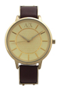 AX5310 Dark Brown Leather Strap Watch by Armani Exchange for Women - 1 Pc Watch