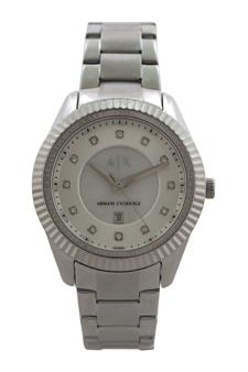 AX5430 Silver Dylann Stainless Bracelet Steel Watch by Armani Exchange for Women - 1 Pc Watch