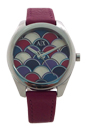 AX5523 Geo Purple Leather Watch by Armani Exchange for Women - 1 Pc Watch