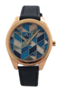 AX5525 Blue Leather Strap Watch by Armani Exchange for Women - 1 Pc Watch