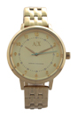AX5361 Crystal Gold-Tone Stainless Steel Bracelet Watch by Armani Exchange for Women - 1 Pc Watch