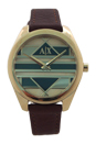 AX5524 Geo Leather Gold Watch by Armani Exchange for Women - 1 Pc Watch