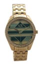 AX5527 Geo Gold-Tone Stainless Steel Bracelet Watch by Armani Exchange for Women - 1 Pc Watch