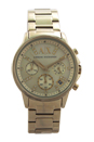 AX4327 Chronograph Gold-Tone Stainless Steel Bracelet Watch by Armani Exchange for Women - 1 Pc Watch