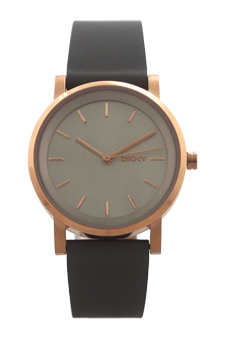 NY2341 Soho Gray Leather Strap Watch by DKNY for Women - 1 Pc Watch