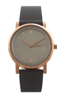 NY2341 Soho Gray Leather Strap Watch