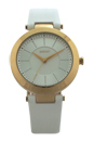 NY2295 Stanhope White Leather Strap Watch by DKNY for Women - 1 Pc Watch