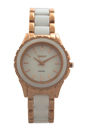 NY8821 White Ceramic and Rose Gold Ion Plated Stainless Steel Bracelet Watch by DKNY for Women - 1 Pc Watch