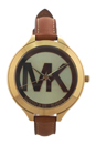 MK2326 Slim Runway Luggage Leather Strap Watch by Michael Kors for Women - 1 Pc Watch
