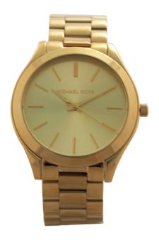 MK3179 Slim Runway Gold-Tone Stainless Steel Bracelet Watch by Michael Kors for Women - 1 Pc Watch