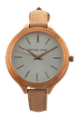 MK2284 Rose Gold Tone Stainless Steel and Vachetta Leather Strap Watch by Michael Kors for Women - 1 Pc Watch