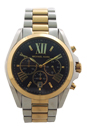 MK5976 Chronograph Bradshaw Two-Tone Stainless Steel Bracelet Watch by Michael Kors for Women - 1 Pc Watch