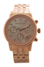 MK6077 Chronograph Ritz Rose Gold-Tone Stainless Steel Watch by Michael Kors for Women - 1 Pc Watch