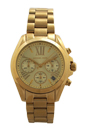 MK5798 Chronograph Mini Bradshaw Gold-Tone Stainless Steel Bracelet Watch by Michael Kors for Women - 1 Pc Watch