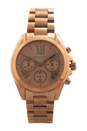 MK5799 Chronograph Mini Bradshaw Rose Gold-Tone Stainless Steel Bracelet Watch by Michael Kors for Women - 1 Pc Watch