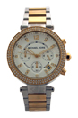 MK5626 Chronograph Parker Two Tone Stainless Steel Bracelet Watch by Michael Kors for Women - 1 Pc Watch