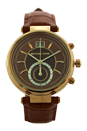 MK2424 Sawyer Amber Croc-Embossed Leather Strap Watch by Michael Kors for Women - 1 Pc Watch