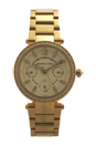 MK6056 Chronograph Mini Parker Gold-Tone Stainless Steel Bracelet Watch by Michael Kors for Women - 1 Pc Watch