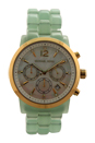 MK6311 Chronograph Audrina Mint Bracelet Watch by Michael Kors for Women - 1 Pc Watch